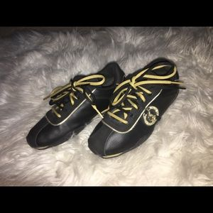 Black and Gold Baby Phat Sneakers